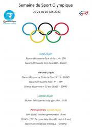 Affiche semaine du sport olympique csmardeuil